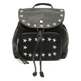 JIMMY CHOO Jimmy Choo SUKI backpack rucksack mini 2WAY one shoulder studs leather black