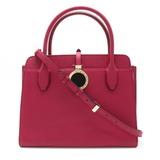 BVLGARI Bvlgari Alba Handbag 2WAY Shoulder Bag Leather Magenta Purple Pink 282591