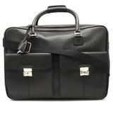 BVLGARI Bvlgari Travel Bag Shoulder 2WAY Boston Leather Black