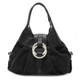 BVLGARI Bulgari Chandra Shoulder Bag Semi-shoulder Handbag Canvas Leather Black