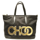 Jimmy Choo LARELLE Nylon 2way Bag Handbag Shoulder Ladies