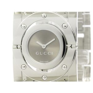 GUCCI Twirl Bangle 112 Steel Quartz Ladies Watch YA112401