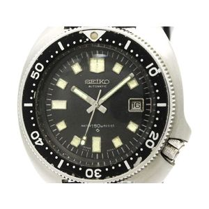 Vintage SEIKO 150M Diver Steel Rubber Automatic Mens Watch 6105-8000