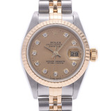ROLEX Rolex Datejust 10P Diamond 79173G Ladies YG / SS Watch Automatic Champagne Dial
