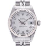 ROLEX Rolex Datejust 10P Diamond 79174G Ladies SS / WG Watch Automatic White Dial