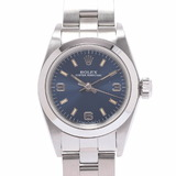 ROLEX Rolex Oyster Perpetual 67180 Ladies SS Watch Automatic Blue 369 Dial