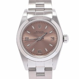 ROLEX Rolex Oyster Perpetual 76080 Ladies SS Watch Automatic Pink 369 Dial