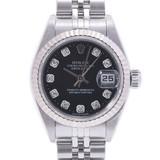 ROLEX Rolex Datejust 10P Diamond 79174G Ladies SS / WG Watch Automatic Black Dial