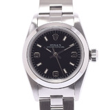 ROLEX Rolex Oyster Perpetual 67180 Ladies SS Watch Automatic Black Dial