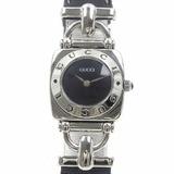 Gucci Watch Women's Quartz SS Leather Belt 6300L Battery-powered Horsebit