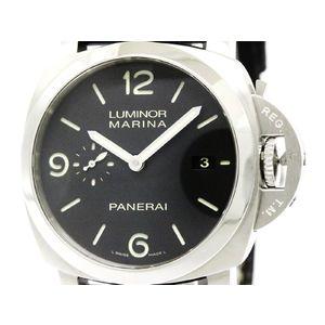 PANERAI パネライ ルミノール マリーナ 1950 3デイズ ステンレススチール レザー 自動巻き メンズ 時計 PAM00312
