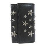 Jimmy Choo Star Studs Key Case Leather Ladies