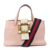 Gucci 453756 Nimfair Bamboo Shoulder Bag Calf Ladies GUCCI