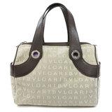 Bulgari Mania Handbag Canvas Ladies BVLGARI