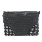 Jimmy Choo Clutch Bag Star Motif Handbag Calf Ladies