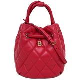 Balenciaga Bucket Bag Red B 600327 Drawstring Leather BALENCIAGA Shoulder Handbag 2way Ladies Quilting