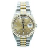 ROLEX Rolex Oyster Perpetual Day-Date Tridor 18239A No. E K18 WG YG PG Diamond Watch