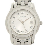 Gucci Ladies Quartz Watch 5500L Stainless Steel Silver Dial