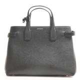 BURBERRY Burberry Leather Medium Banner 2WAY Tote Bag Nova Check Black
