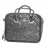 Balenciaga Leather Blanket Square S 2WAY Handbag Black