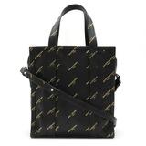 BALENCIAGA Balenciaga Bazaar Shopper XS Tote Bag Shoulder Leather Black Gold 452458