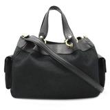 BVLGARI Bvlgari Mania Handbag 2WAY Shoulder Bag Jacquard Leather Black