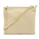 BVLGARI Bvlgari Mania Shoulder Bag Canvas Leather Cream Beige