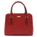 BURBERRY Nova check plaid handbag tote bag leather red