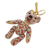 Burberry Leather Keychain Red x White Bear