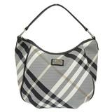 Burberry Blue Label One Shoulder Bag Canvas x Leather White Black