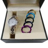 Gucci GUCCI Watch 11 / 12.2L Change Bezel 6 Colors Quartz Silver Ladies