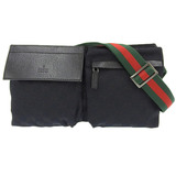 Gucci GUCCI GG canvas sherry waist bag black 28566