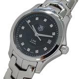 TAG Heuer Watch WJF131H Link 11P Diamond Quartz Date Ladies Polished