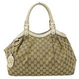 Gucci GUCCI Sookie GG Canvas Tote Bag Beige x Off White Ladies 211944