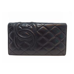 Chanel Cambon 11427532  Bill Wallet (bi-fold) Black