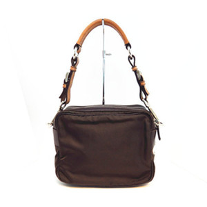 Prada Nylon Shoulder Bag,Tote Bag Brown
