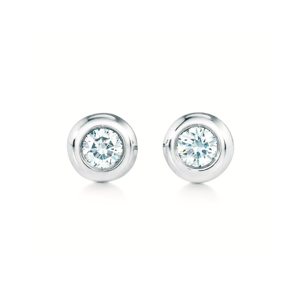 Tiffany Diamonds By The Yard Diamond Silver Ball Stud Earrings Carat/0.06 Silver