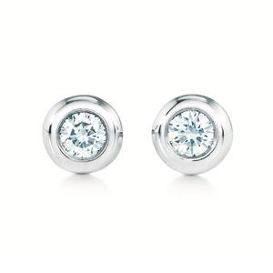 ティファニー(Tiffany) ダイヤモンド バイ ザ ヤード ダイヤモンド シルバー ボール型ピアス カラット/0.06 シルバー