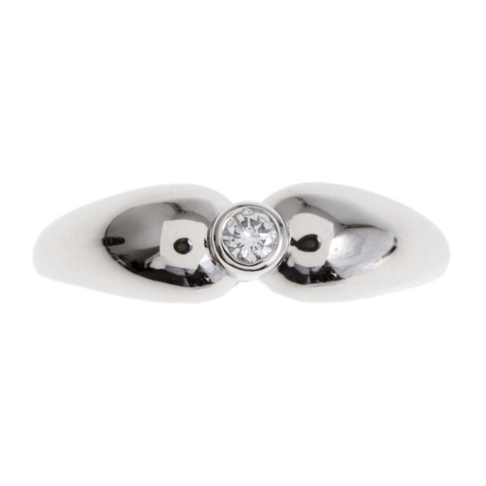 Tiffany Tear Drop Platinum 950 Elegant Diamond Ring Platinum Rhodium Plated Pt950
