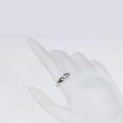 ティファニー(Tiffany) ティア・ドロップ Pt950(プラチナ) エレガント ダイヤモンド リング プラチナ ロジウムメッキ Pt950