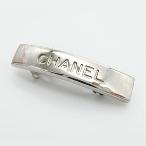 Chanel Alloy Women's Casual Barrette Silver 99P