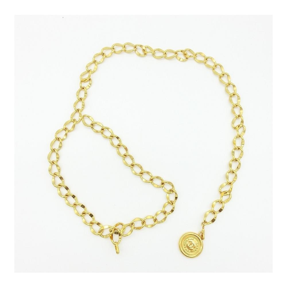シャネル(Chanel) レディース メタル チェーンベルト ゴールド 82