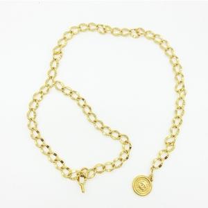 シャネル(Chanel) シャネル アパレル コイン付き チェーンベルト 82cm ゴールド 95A レディース / メタル 合金 / 大人カジュアル ヴィンテージ