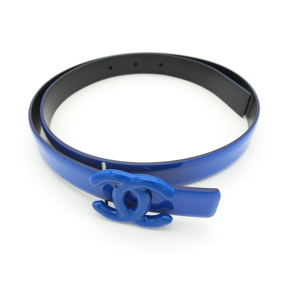 シャネル(Chanel) レディース レザー ハイウエストベルト ブルー A73428