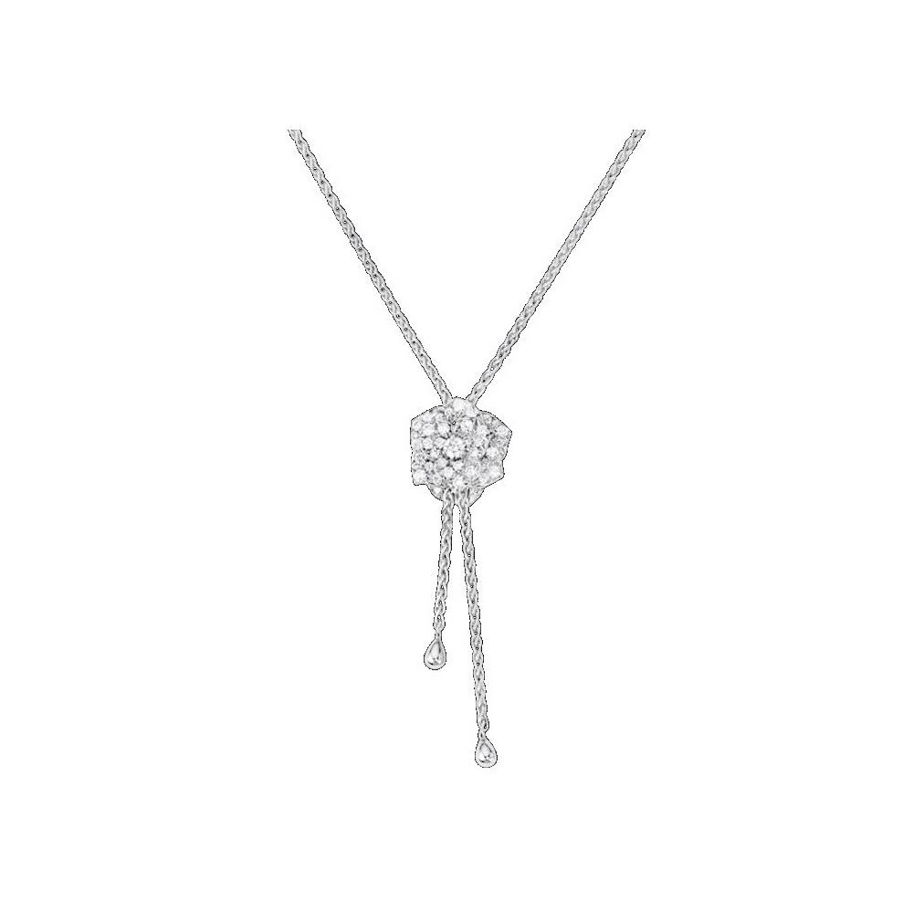 フラワー K18ホワイトゴールド(K18WG) ダイヤモンド ペンダント カラット/0.72 (ホワイトゴールド(WG)) G33U0093