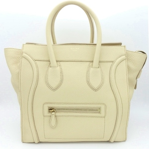 Celine Handbag Ladies Beige / Luggage Mini Shopper Tote 165213gfl.01cr Calf Leather Adult Casual