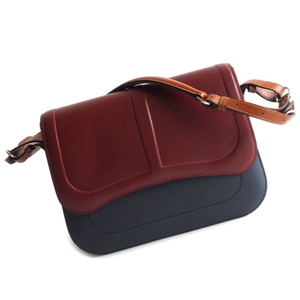 Hermes Hermes Shoulder Bag Sacqueline Vaux Epson X Tadelacto Indigo Blue × Rouge A Womens Red / Calf Leather Adult Casual