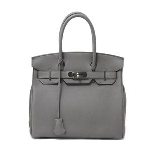 Hermes Hermes Birkin 30 Handbag Women's Ethane × Silver Hardware Togo Formal
