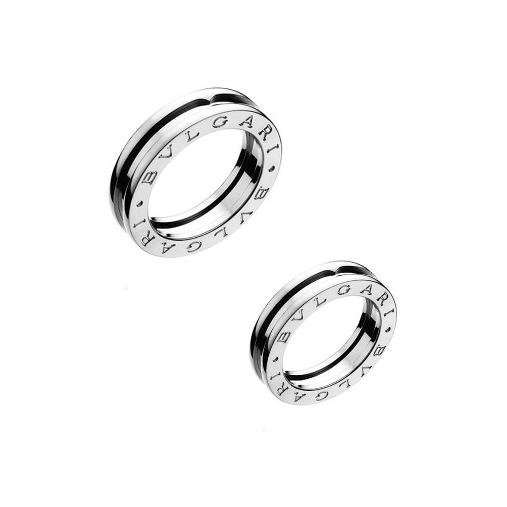 new concept 3abf0 cc706 ブルガリ(Bvlgari) ブルガリ【BVLGARI】ペアリング 指輪 ユニセックス シルバー / B.ZERO1 ビー・ゼロワン リング /  K18WG ホワイトゴールド / お揃い ペアルック 記念日 【ギフト対応】 | elady.com