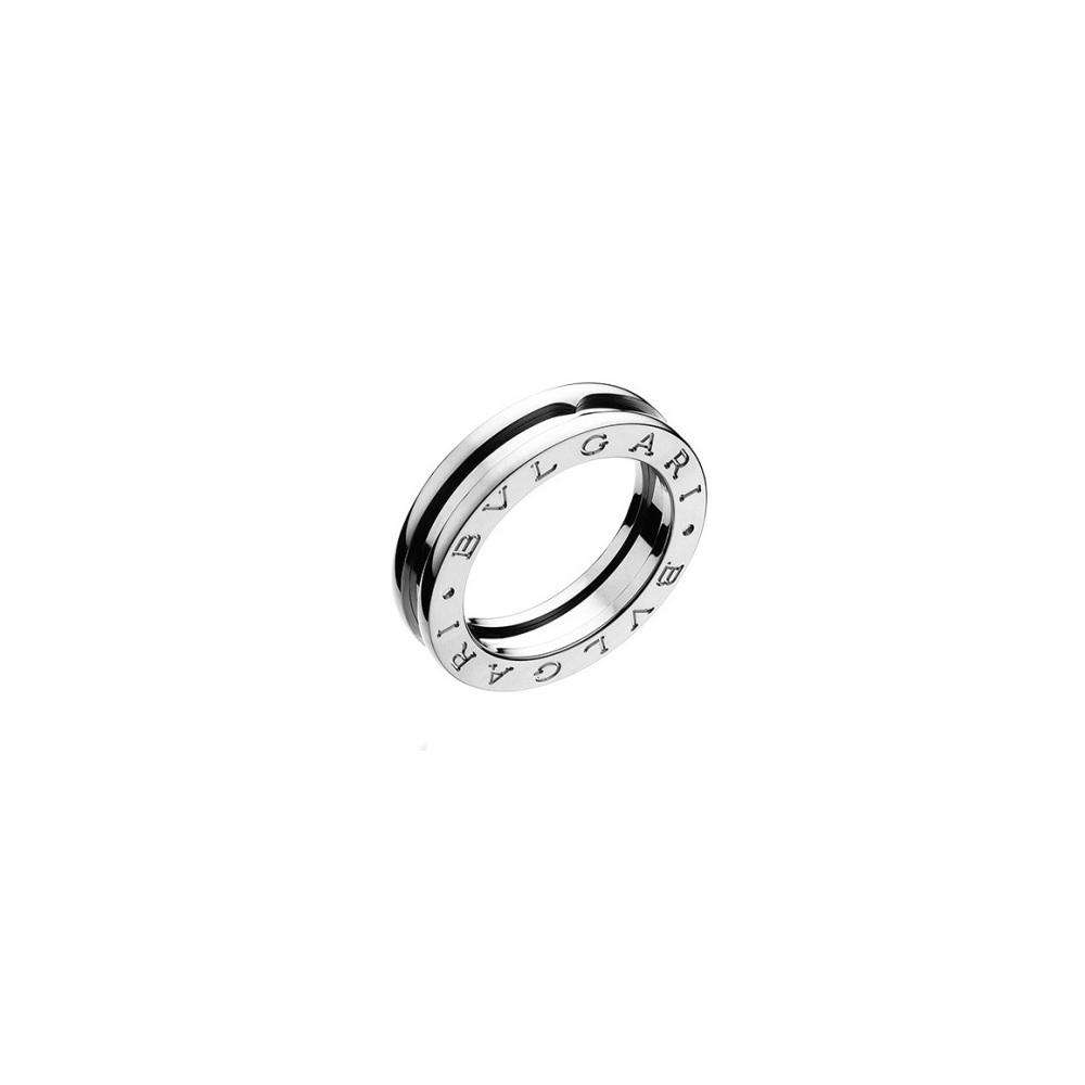 ブルガリ(Bvlgari) ブルガリ【BVLGARI】ペアリング 指輪 ユニセックス シルバー / B.ZERO1 ビー・ゼロワン リング / K18WG ホワイトゴールド / お揃い ペアルック 記念日 【ギフト対応】